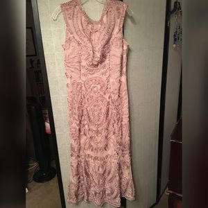 Authentic JS Collection baby pink chord dress